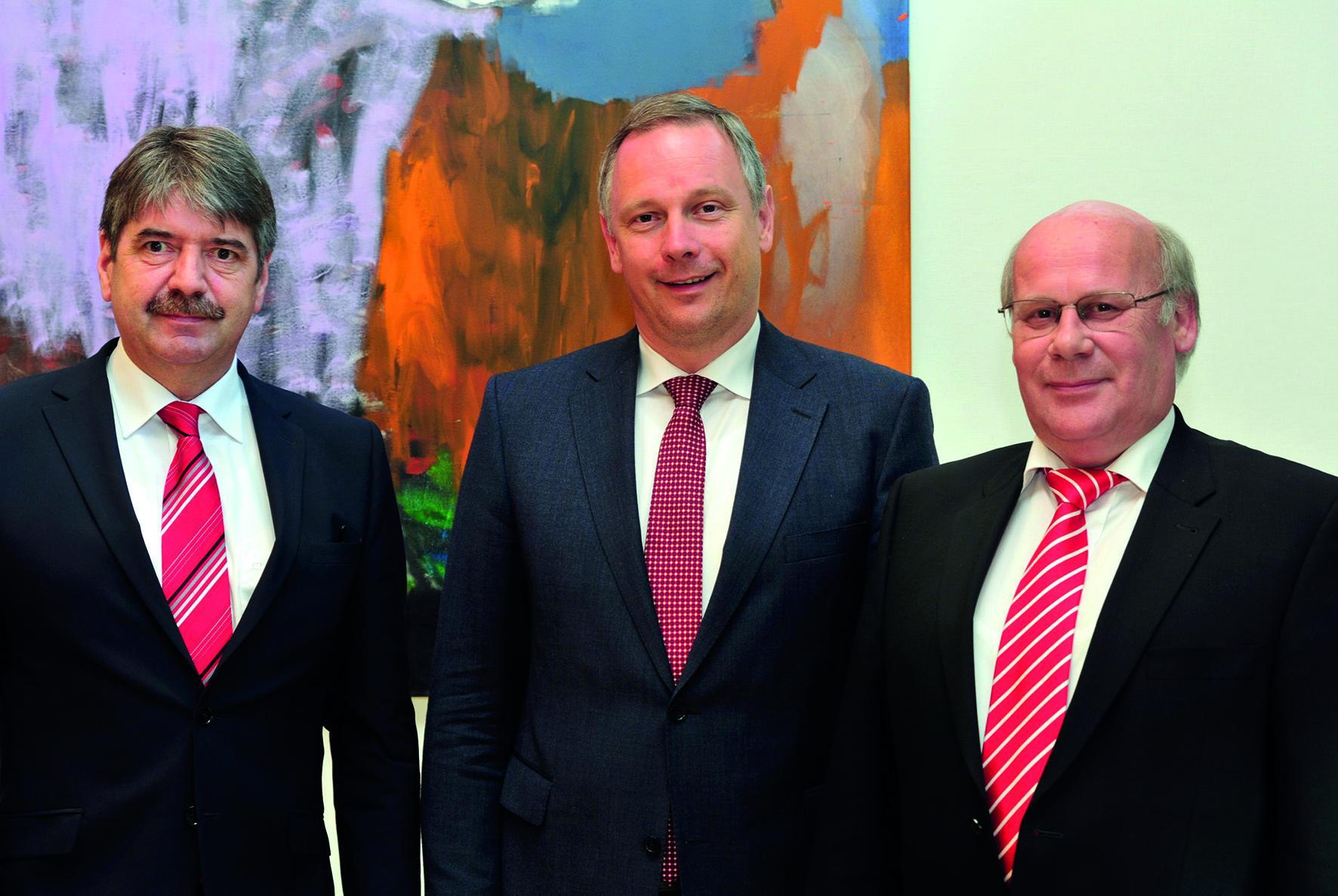 v.l.: Präsident SVSaar Dr. Alfons Lauer ...