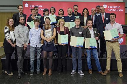 Gruppenfoto der Preisträger des Kreativ ...
